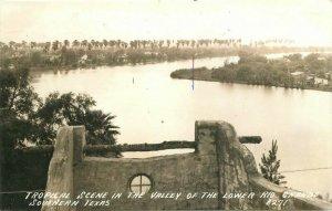 Rio Grande Texas Tropical Scene Valley #B271 1941 RPPC Photo Postcard 20-9486