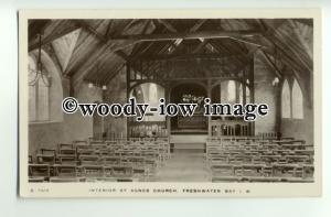 h1125 - Interior of St Agnes Church , Freshwater Bay , Isle of Wight - postcard