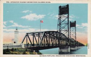 Interstate Highway Bridge Over Columbia River, Between Portland, Oregon & Van...
