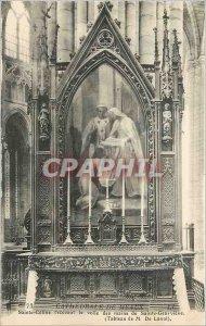 Old Postcard Cathedral of Meaux Sainte Celine receiving Sail hands of St. Gen...