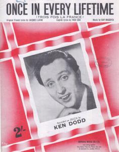 Once In Every Lifetime Ken Dodd 1960s Sheet Music