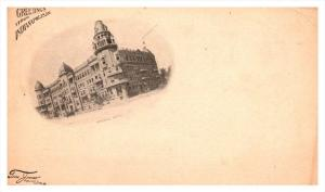 11429  IN indianapolis Greetings  ,  Imperial Hotel  private mailing card