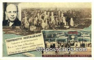 Time Square, Toffenetti  Restaurant, New York City, NYC Postcard Post Card US...