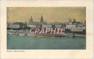 Old Postcard Mainz Rheinansicht