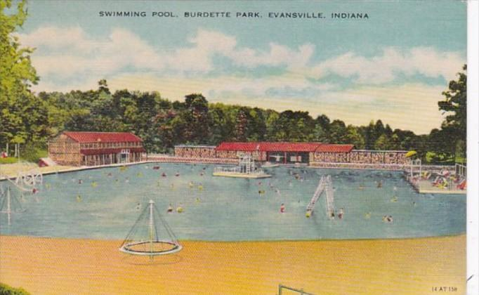Indiana Evansville Swimming Pool Burdette Park 1949