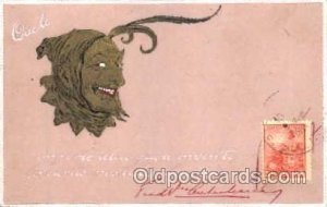 Krampus, Devil, 1964 postal used on front, writing on front and back
