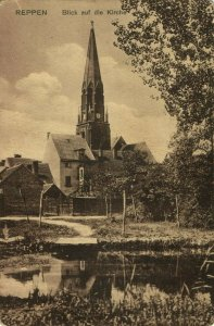 poland germany, REPPEN RZEPIN, Blick auf die Kirche (1910s) Postcard