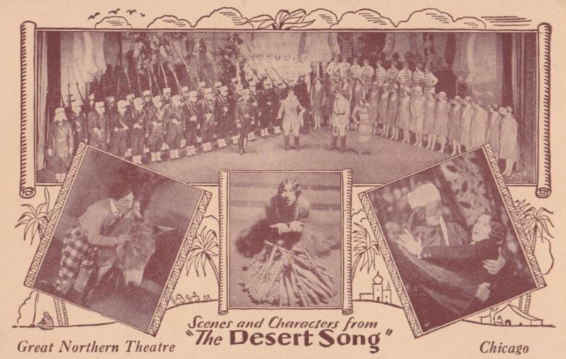CHICAGO , Illinois , 1910-20s ; Great Northern Theatre , Play The Desert Song