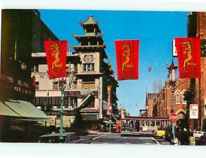 Chinatown San Franscisco California Street Cable Car Grant Ave  Postcard # 8010
