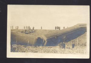 RPPC WAVERLY IOWA RAILROAD TRAIN WRECK 1909 REED REAL PHOTO POSTCARD