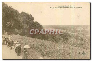 Old Postcard St. Park Vloud The Terrace and the Rond Point of the Lantern