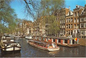 Netherlands Amsterdam House-boats canal Herengracht American Bible Society