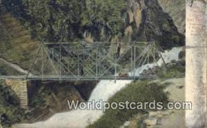 Ferrocarril Central Del Peru, Peru Cascade y Puente de Rio Blanco  Cascade y ...