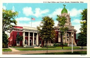 Ohio Painesville Post Office and Court House 1951 Curteich