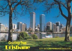 BRISBANE , Queensland , Australia , 50-70s ; City Skyline towards Eagle St.
