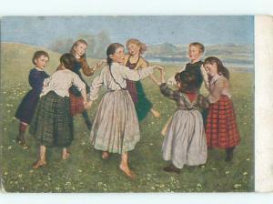 Divided-Back CHILDREN SCENE Great Postcard AA5104