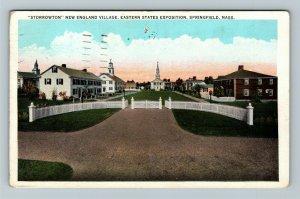 Springfield MA-Massachusetts, Storrowton, States Expo Vintage c1934 Postcard