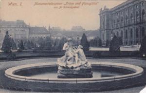 Austria Wien Vienna Monumentalbrunnen Triton und Flussgoetin