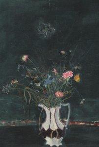 Dame Elizabeth Blackadder Vase Of Flowers Painting Postcard