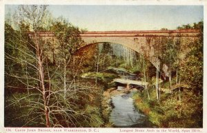 PRE 1906 CABIN JOHN BRIDGE NEAR WASHINGTON DC*LONGEST STONE ARCH IN THE WORLD!