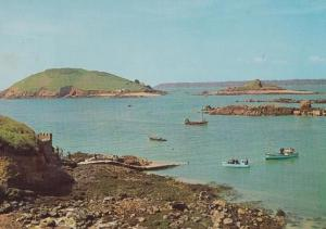 Boat Sailing Boats on Rosiere Steps Channel Islands Herm Postcard