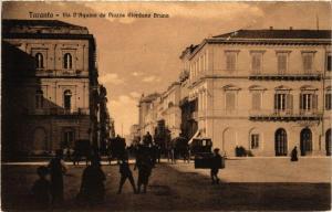 CPA TARANTO Via d'Aquino da Piazza Giordano Bruno. ITALY (531619)