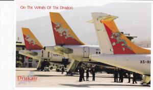 Drukair Royal Bhutan Airlines ,  Airplanes on runway at airport ,  2013