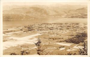Sandpoint Idaho~Lake Pend d'Oreille & Town Birds Eye View~1940s RPPC Postcard