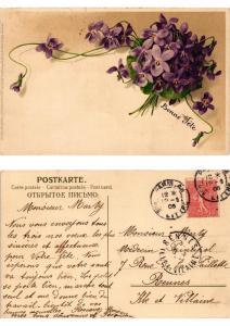 CPA Veilchen botschaft Meissner & Buch Litho Serie 1324 (730546)