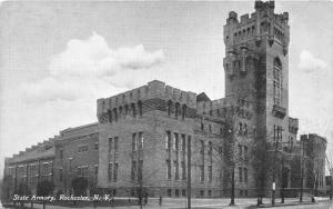 Rochester New York~Armory~Square Tower~1910 B&W Postcard