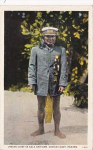 Panama Indian Chief In Gala Uniform Darien Coast
