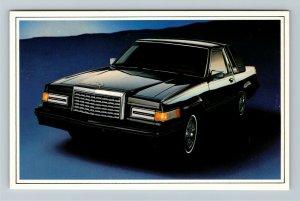 Ford Thunderbird, Automobile, Chrome Postcard