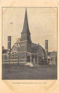Congregational Church ATLANTIC, IA Iowa 1909 Vintage Postcard