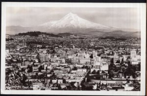 Oregon Mt. Hood from PORTLAND by Sawyers - RPPC - EKC 1939-1950