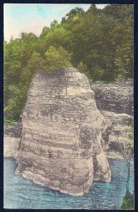 Cathedral Rock Letchworth Park Castile NY unused c1920's
