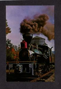 NH Clark's Trading Post Lincoln New Hampshire Postcard  Railroad Train Steam