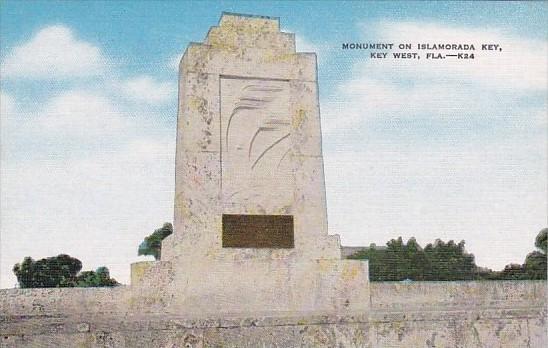 Florida Key West Monument On Islamorada Key