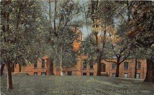 G45/ Sioux Falls South Dakota Postcard 1914 All Saints School Building