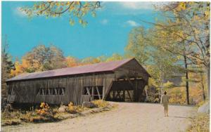 A picturesque Covered Bridge, unused Postcard