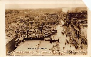 GAINSVILLE, GEORGIA AFTER THE TORNADO, APRIL 6,1936 RPPC REAL PHOTO POSTCARD