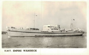 H.M.T Empire Wansbeck RPPC 05.20