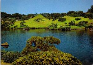 Suizenji Garden Park Kumamoto Japan vtg postcard