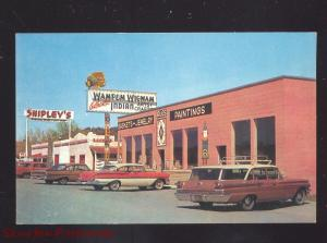 BAYFIELD COLORADO SHIPLEY'S MINERAL STORE 1960's CARS ADVERTISING POSTCARD