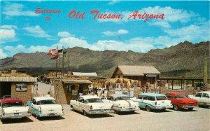 Automobiles Entrance Old Tucson Arizona Petley Davis Postcard 20-14256