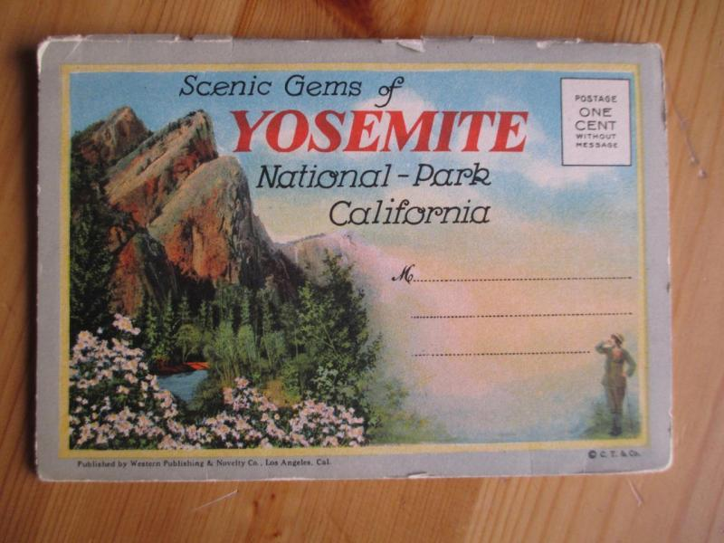 Est 1930s USA Yosemite National Park Booklet Folder - See All Photos (AT24)