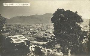 japan, NAGASAKI, Partial View (1920s) RPPC, Czech (?) Edition