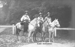 THREE COWBOYS PROBABLY FROM DUDE RANCE-VINTAGE PHOTO RPPC REAL PHOTO POSTCARD