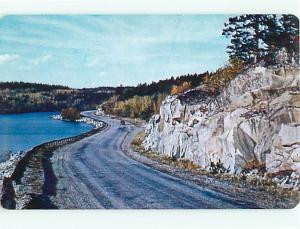 Road Ocean Shore balderson Ontario Canada Rocks Cliff Postcard # 6046