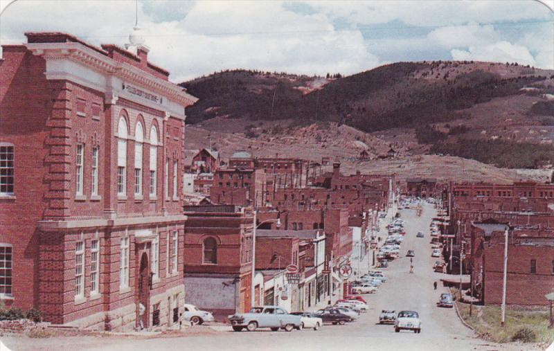 CRIPPLE CREEK, Colorado, 1940-1960's; Teller County Court House, Classic Cars...