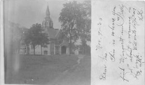 Chicago Illinois~Church Building~1905 RPPC Real Photo Postcard
